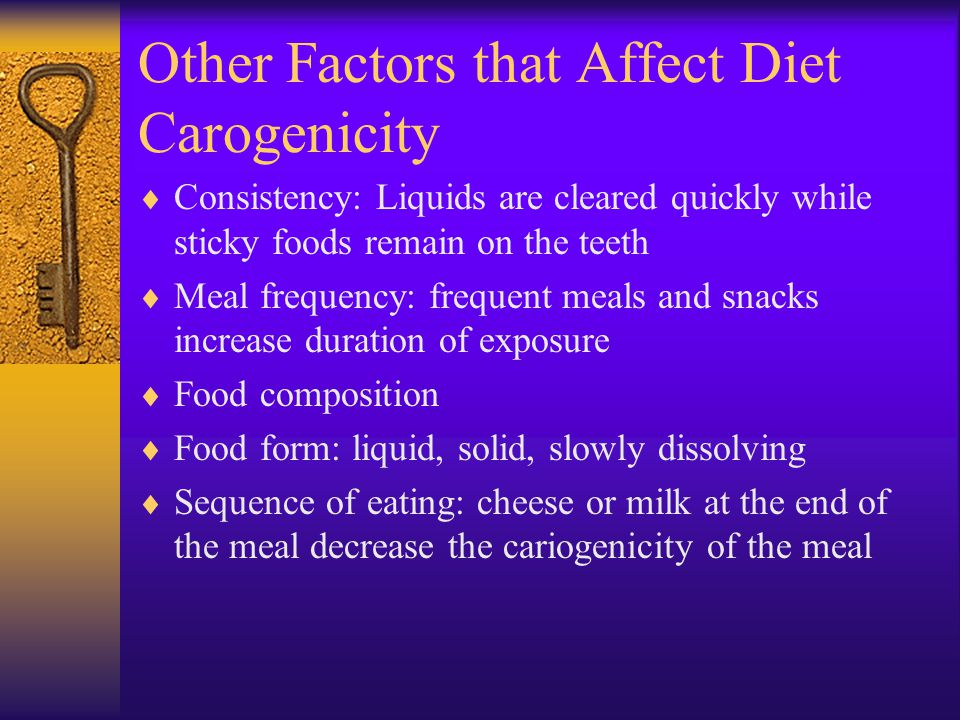 Other Factors that Affect Diet Carogenicity