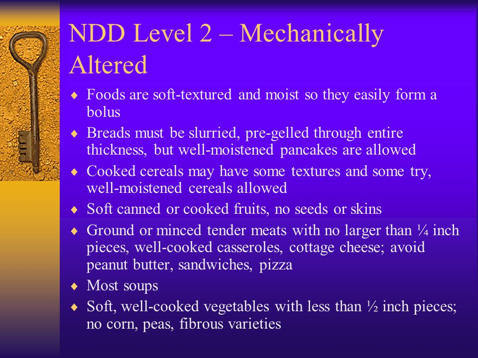 NDD Level 2 – Mechanically Altered