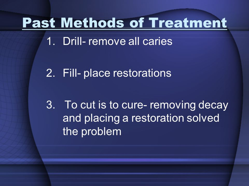 Past Methods of Treatment