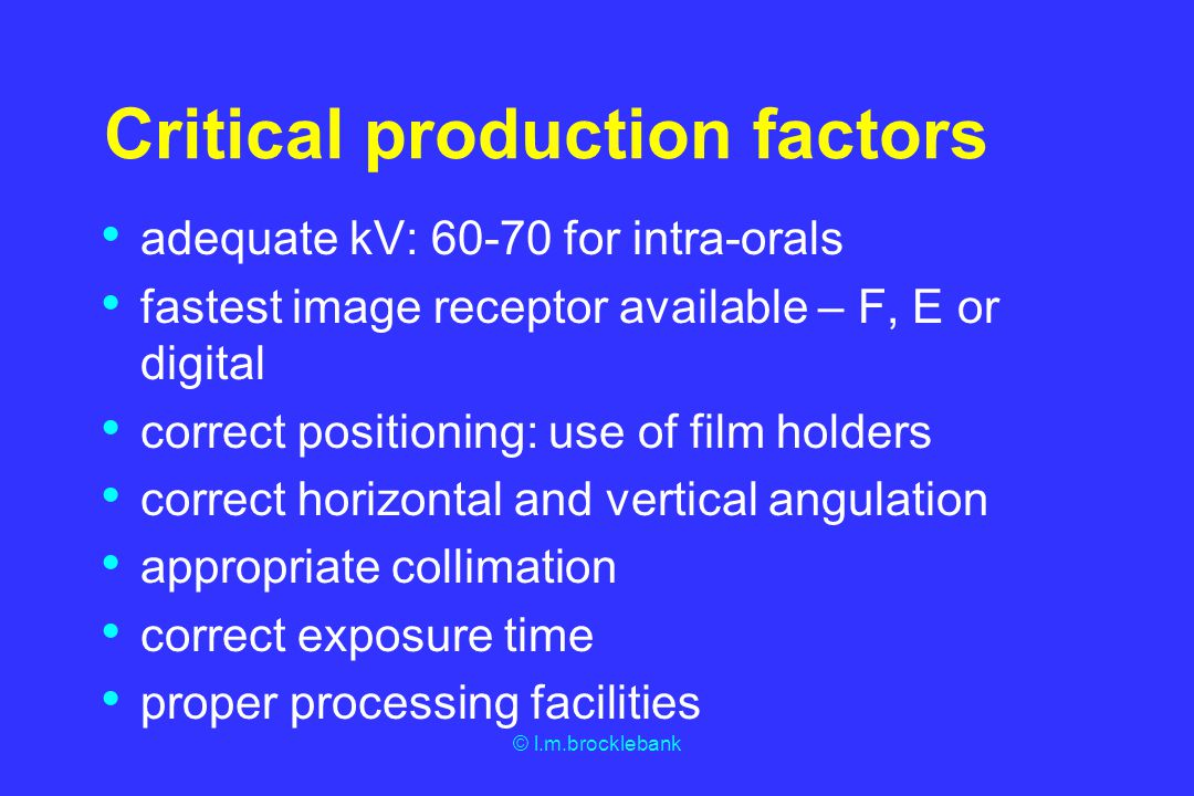 Critical production factors