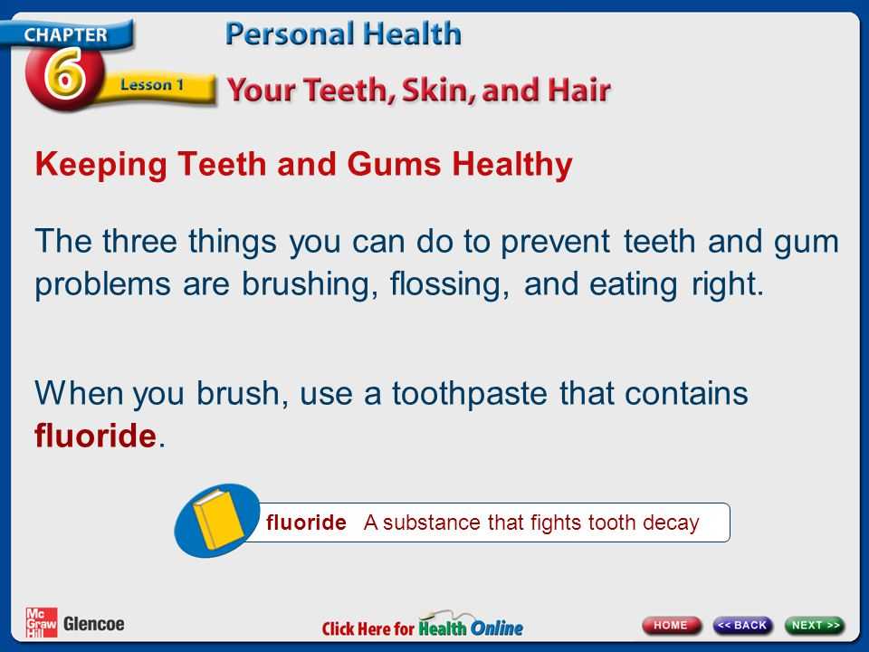 Keeping Teeth and Gums Healthy