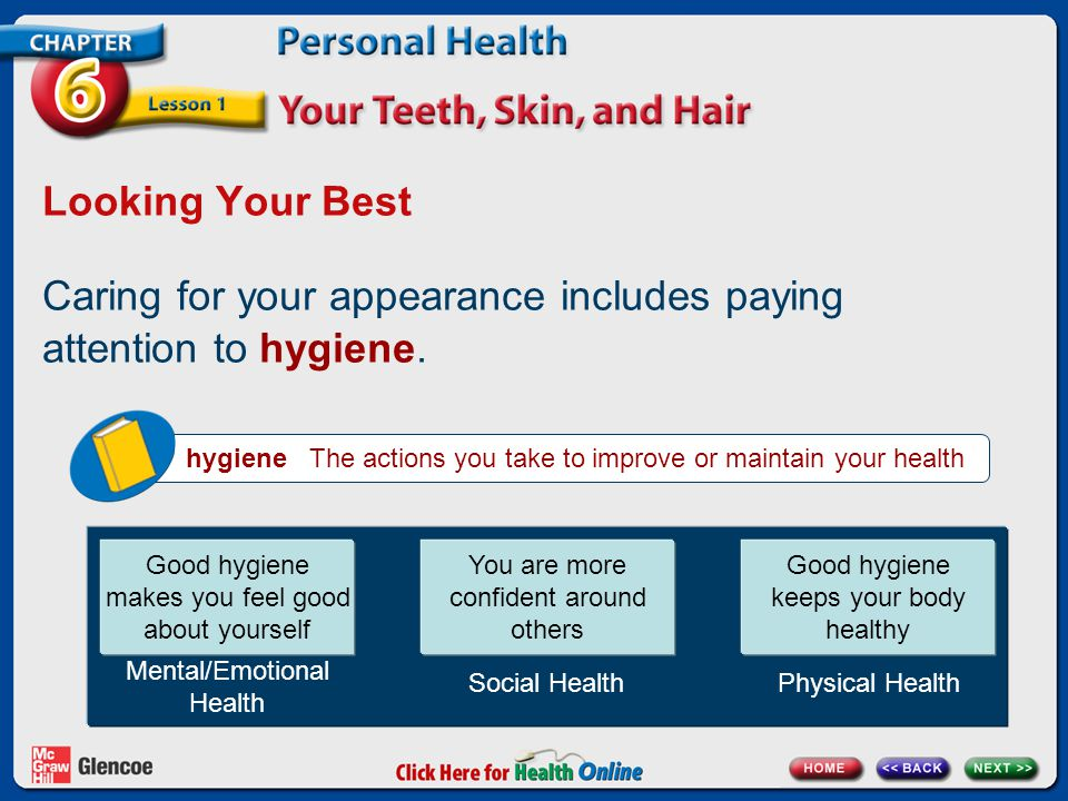 Caring for your appearance includes paying attention to hygiene.
