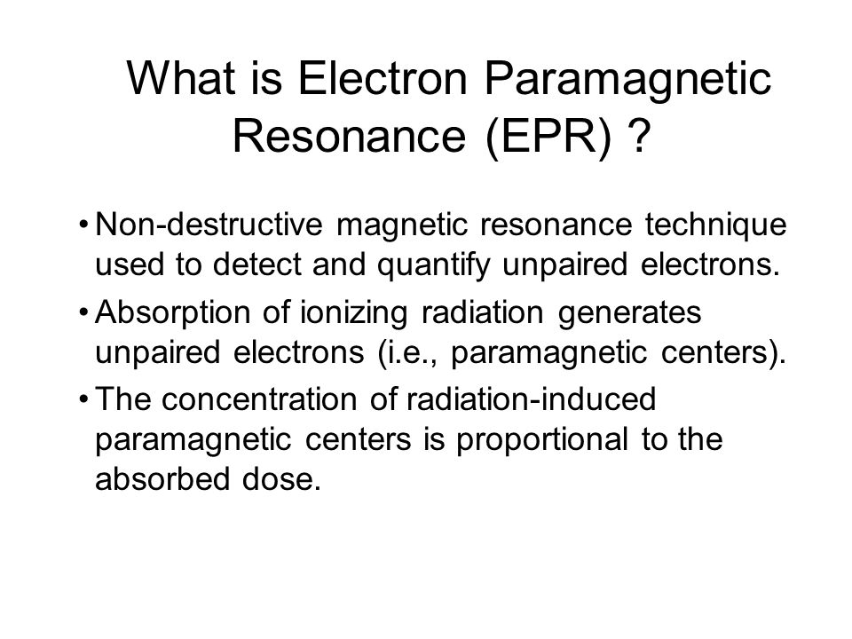 What is Electron Paramagnetic Resonance (EPR)