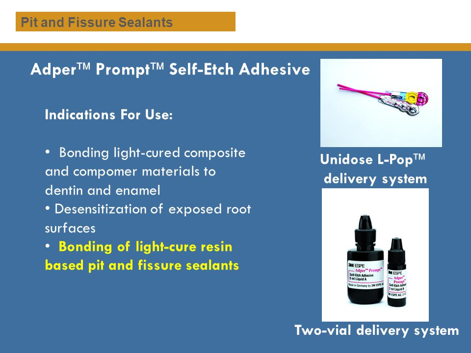 Adper Prompt Self-Etch Adhesive