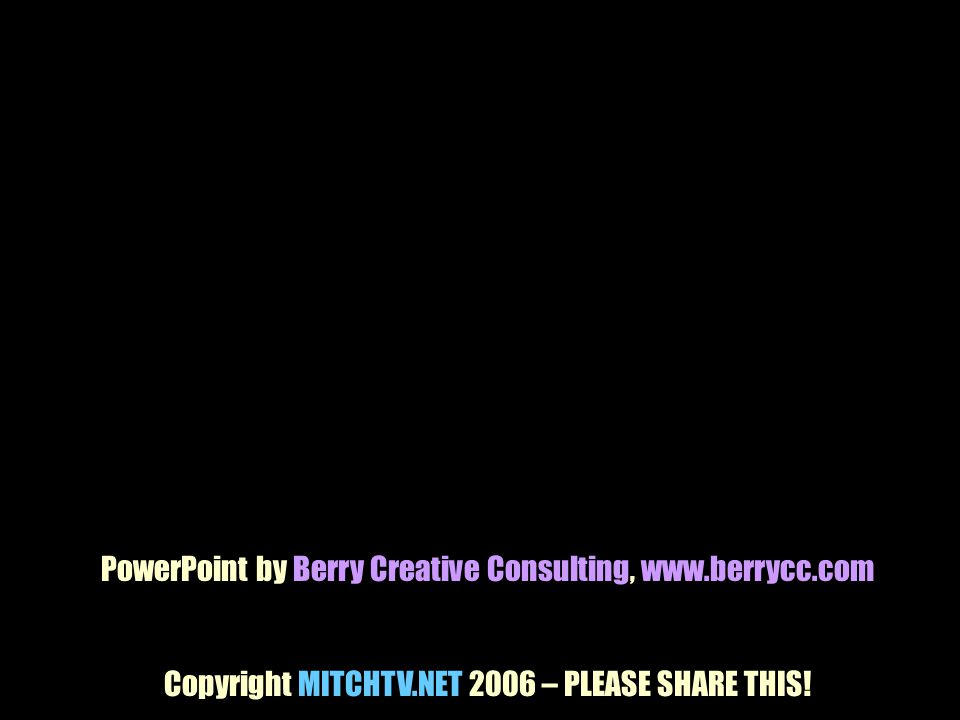 PowerPoint by Berry Creative Consulting, www.berrycc.com