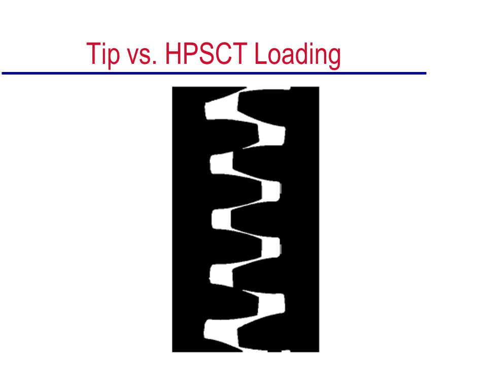 Tip vs. HPSCT Loading