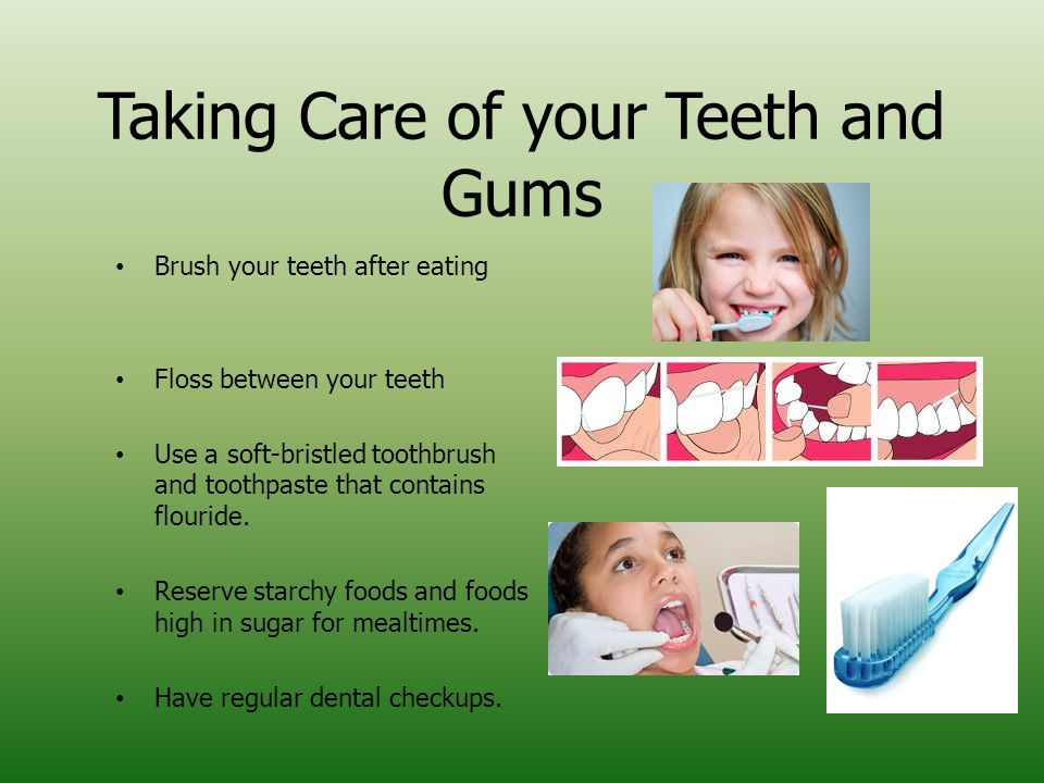 Taking Care of your Teeth and Gums