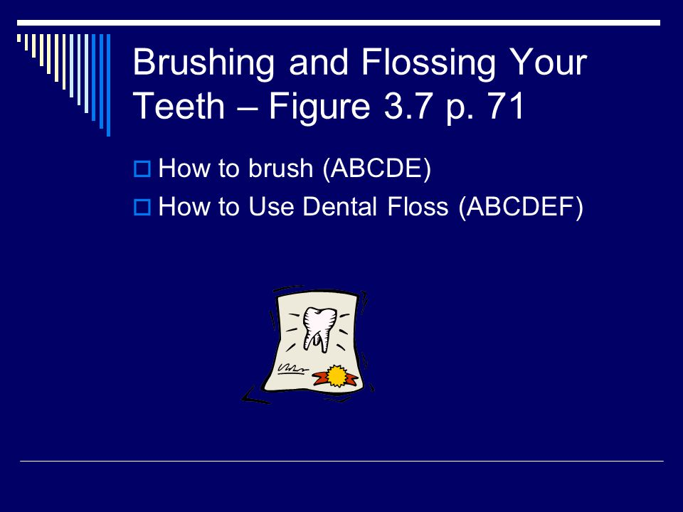 Brushing and Flossing Your Teeth – Figure 3.7 p. 71