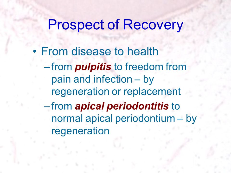 Prospect of Recovery From disease to health