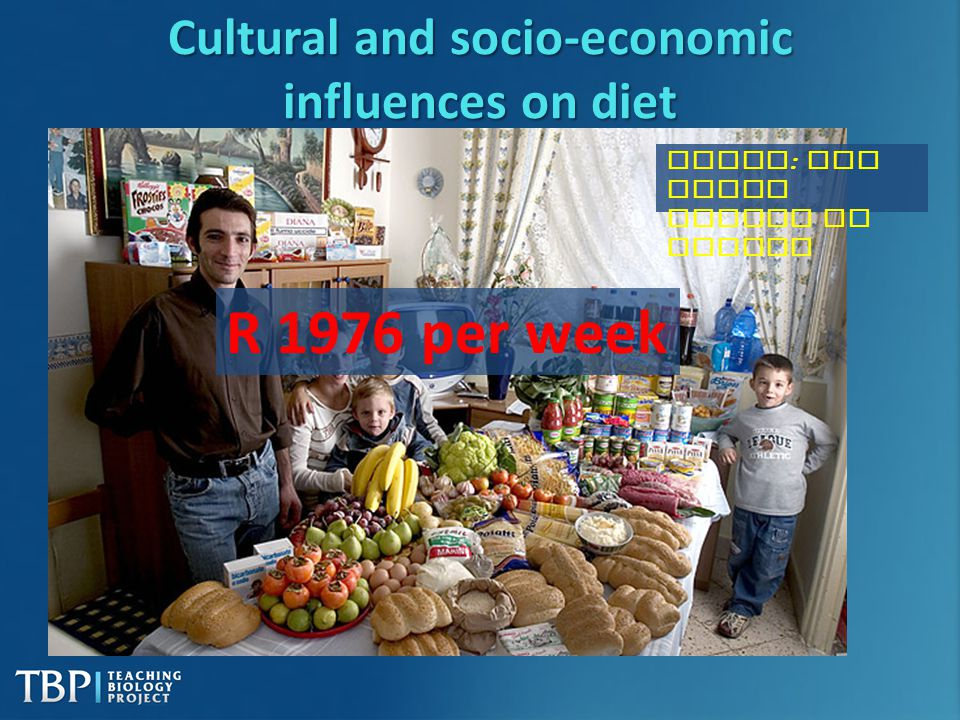 Cultural and socio-economic influences on diet
