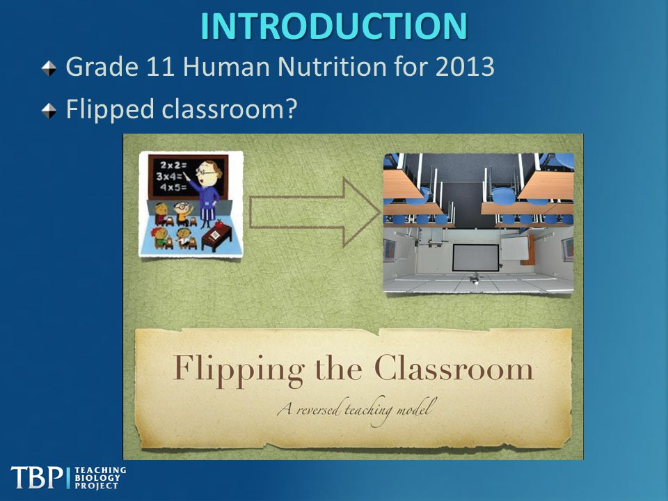 INTRODUCTION Grade 11 Human Nutrition for 2013 Flipped classroom