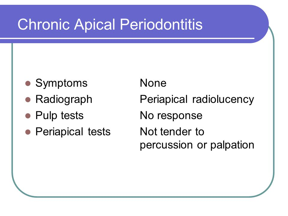 Chronic Apical Periodontitis