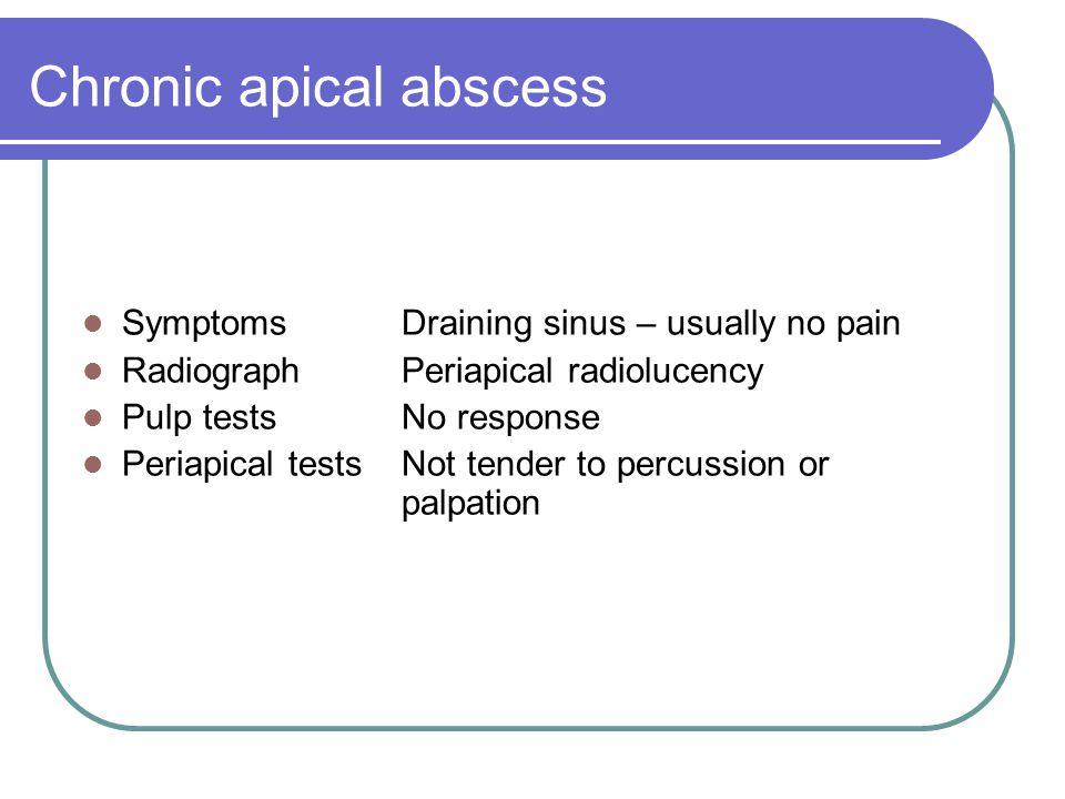 Chronic apical abscess