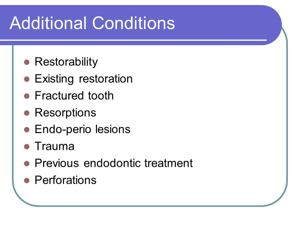 Additional Conditions