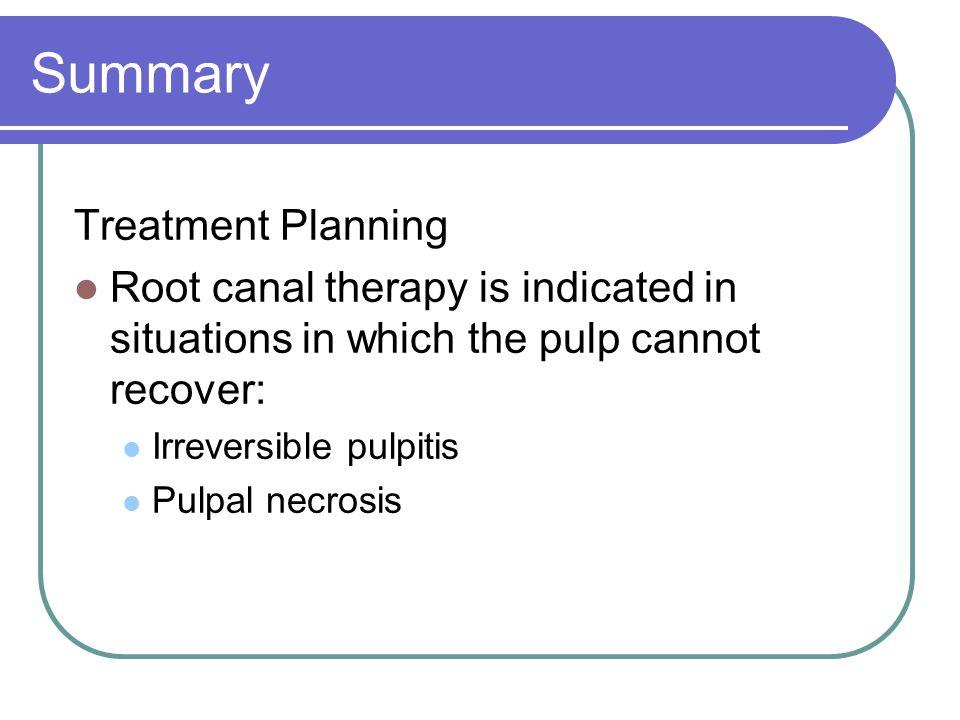 Summary Treatment Planning