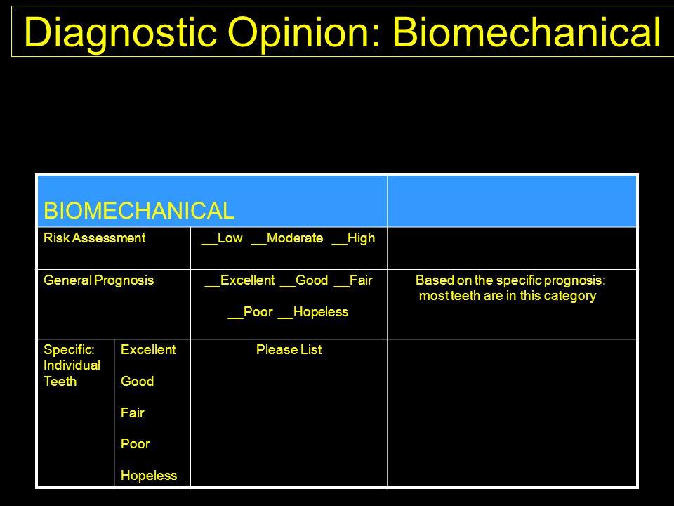 Diagnostic Opinion: Biomechanical