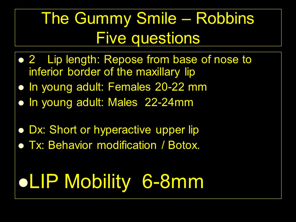 The Gummy Smile – Robbins Five questions