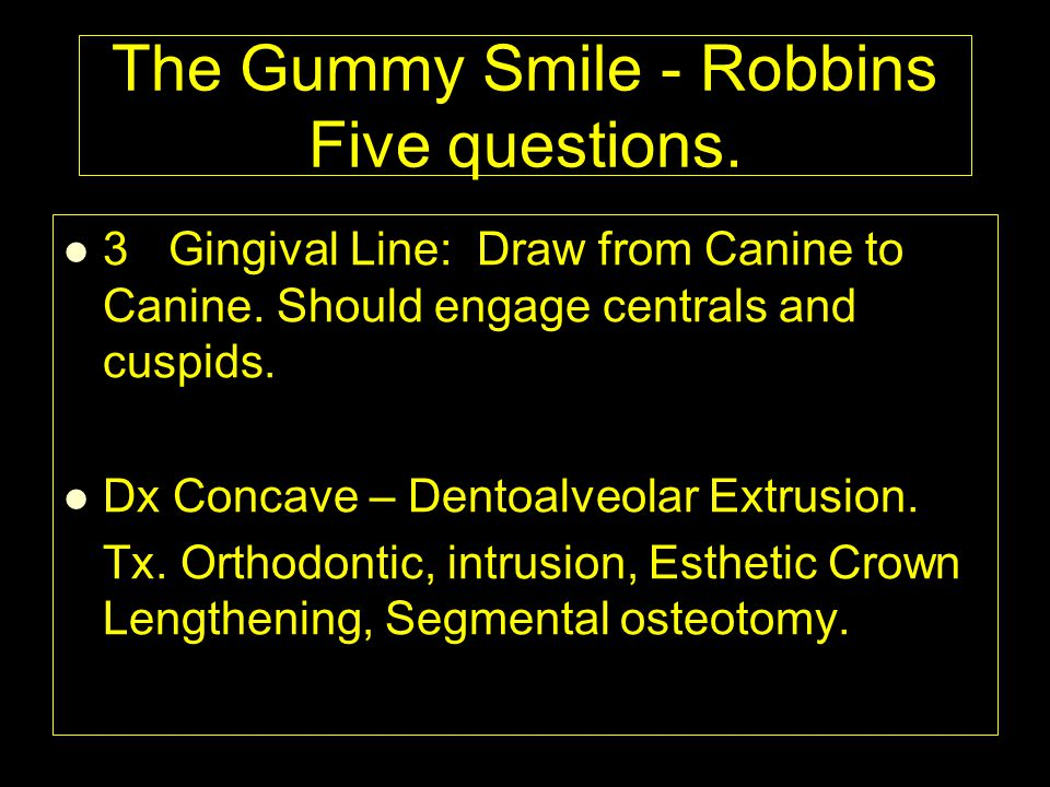 The Gummy Smile - Robbins Five questions.