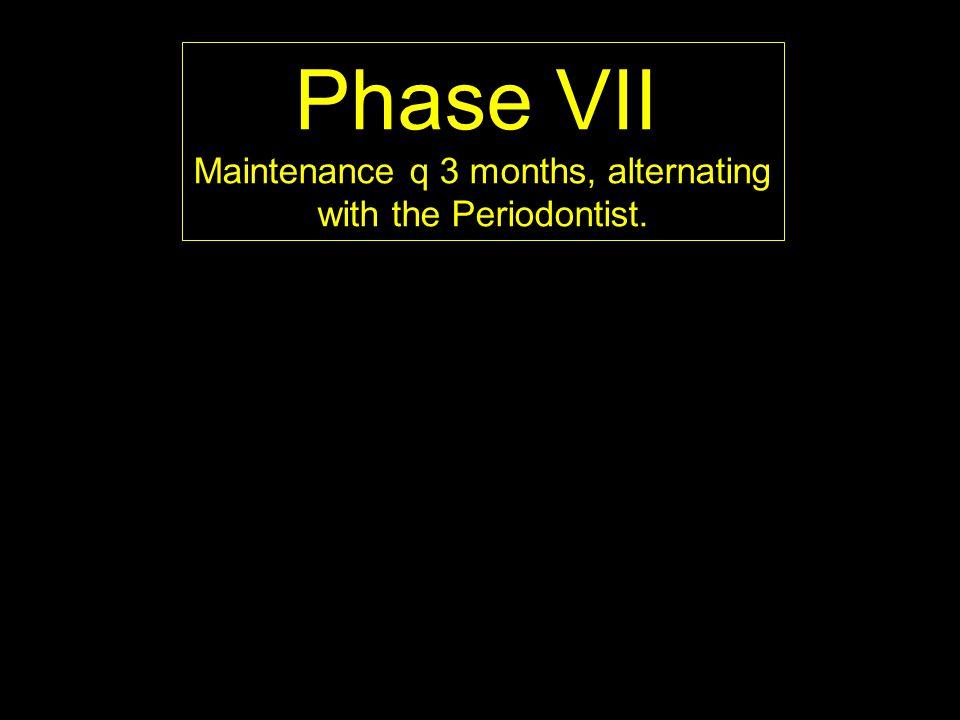 Maintenance q 3 months, alternating