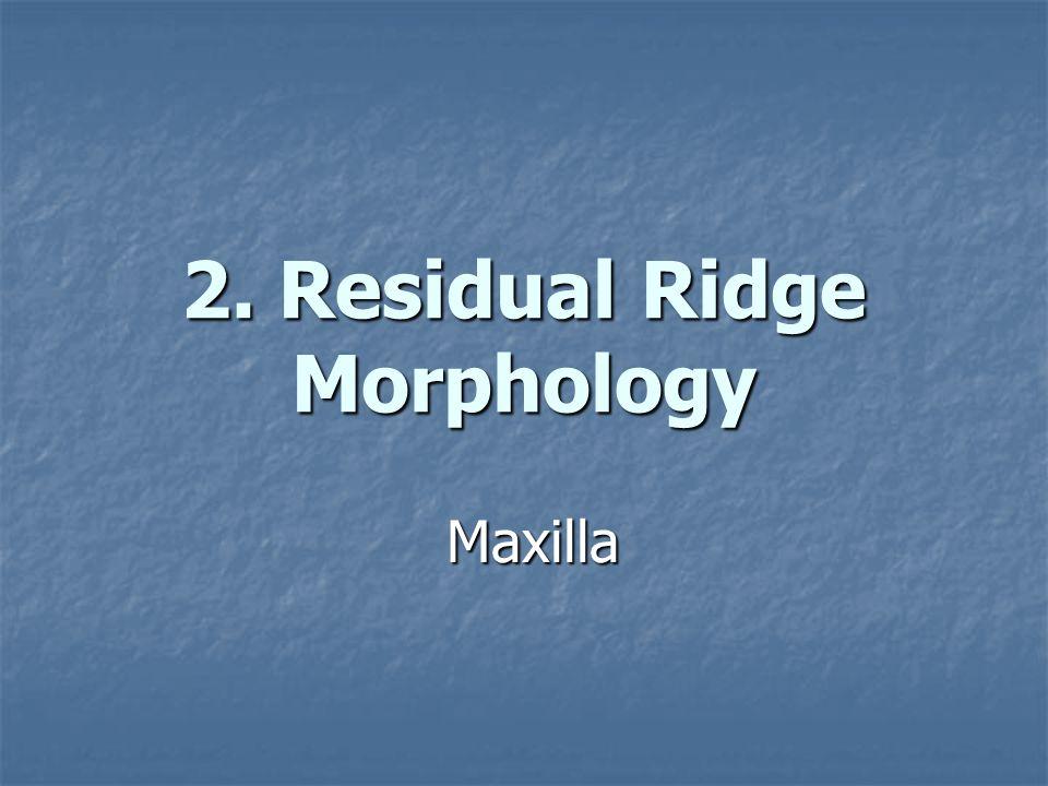 2. Residual Ridge Morphology