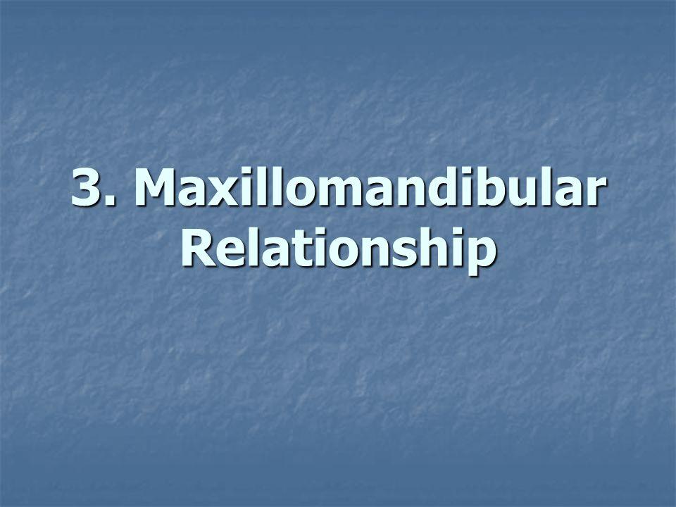 3. Maxillomandibular Relationship