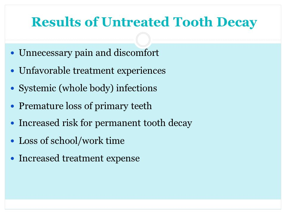 Results of Untreated Tooth Decay