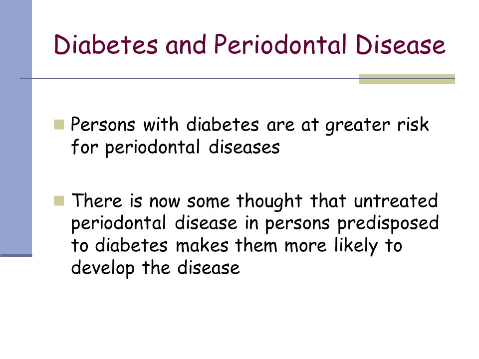Diabetes and Periodontal Disease