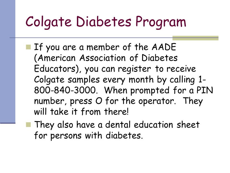 Colgate Diabetes Program