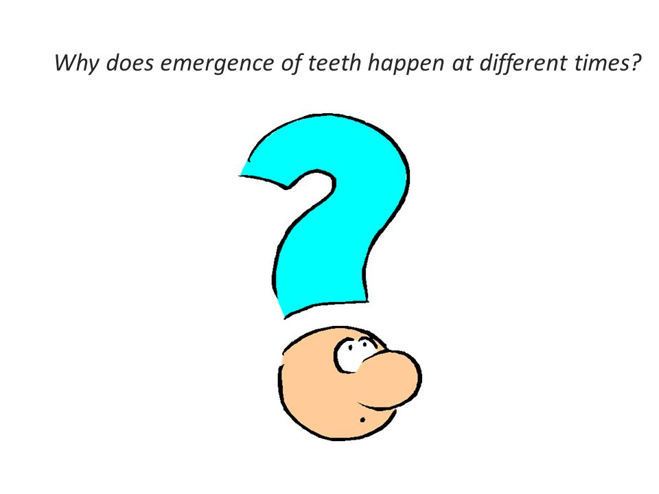 Why does emergence of teeth happen at different times