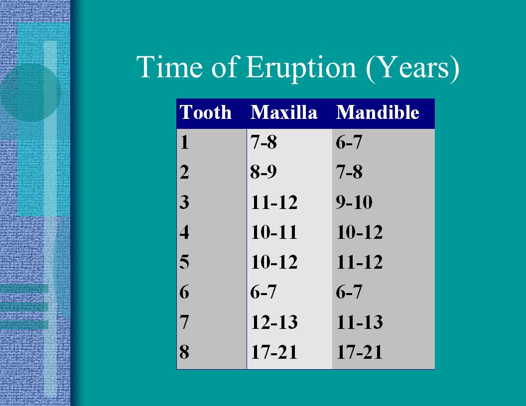 Time of Eruption (Years)