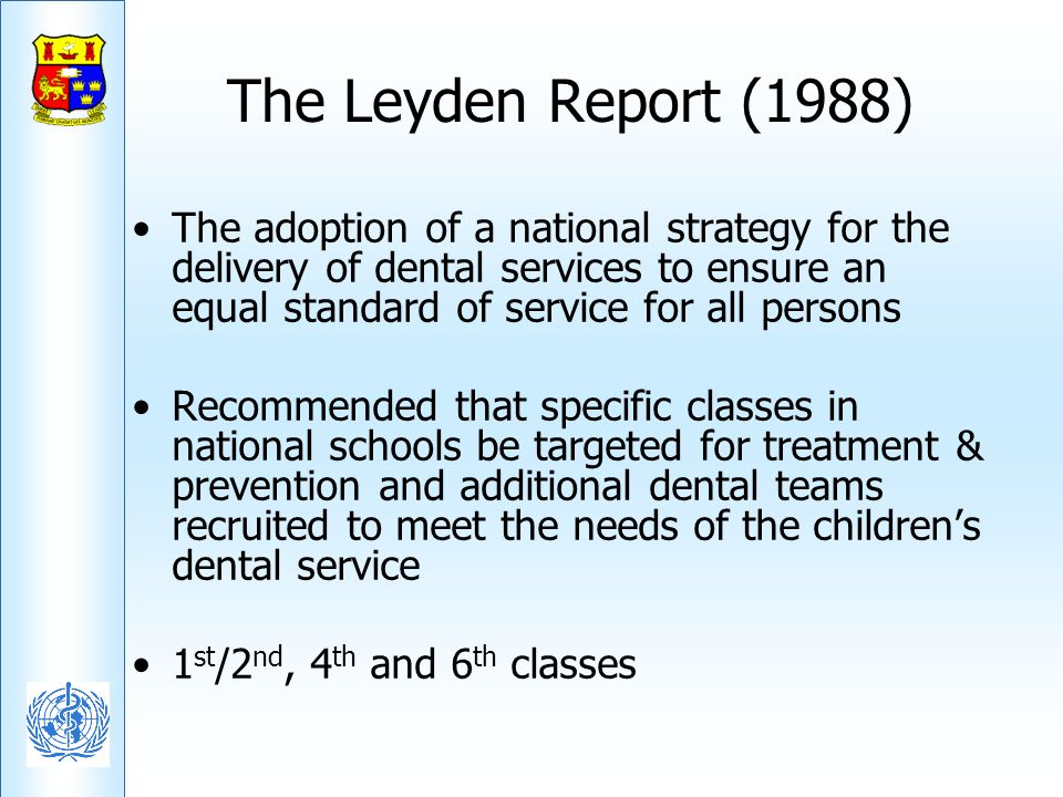 The Leyden Report (1988)