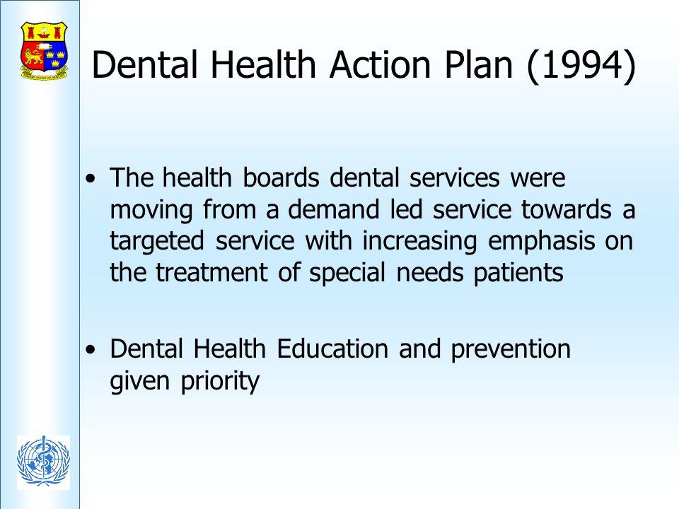 Dental Health Action Plan (1994)