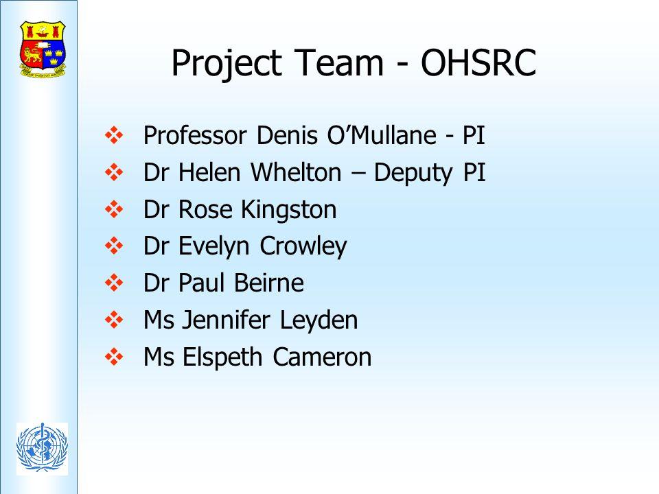 Project Team - OHSRC Professor Denis O'Mullane - PI