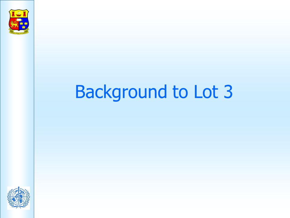 Background to Lot 3