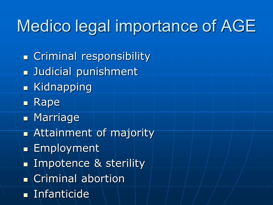 Medico legal importance of AGE