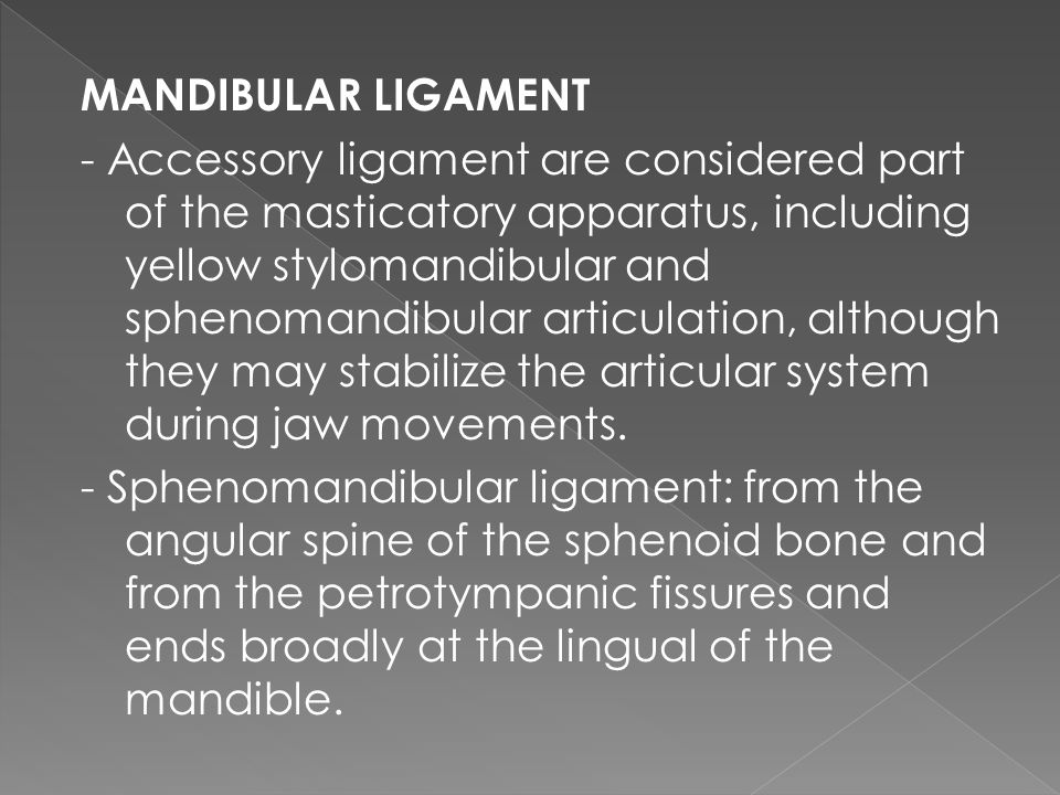 MANDIBULAR LIGAMENT