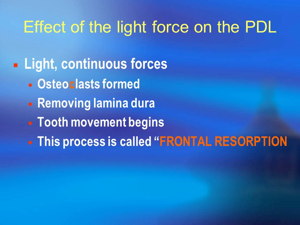 Effect of the light force on the PDL