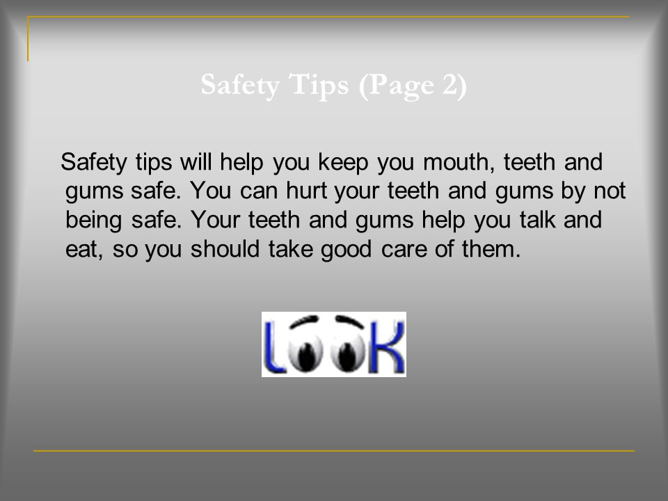 Safety Tips (Page 2)