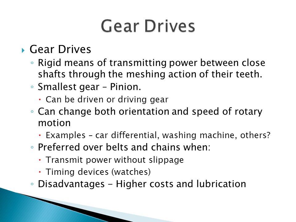 Gear Drives Gear Drives