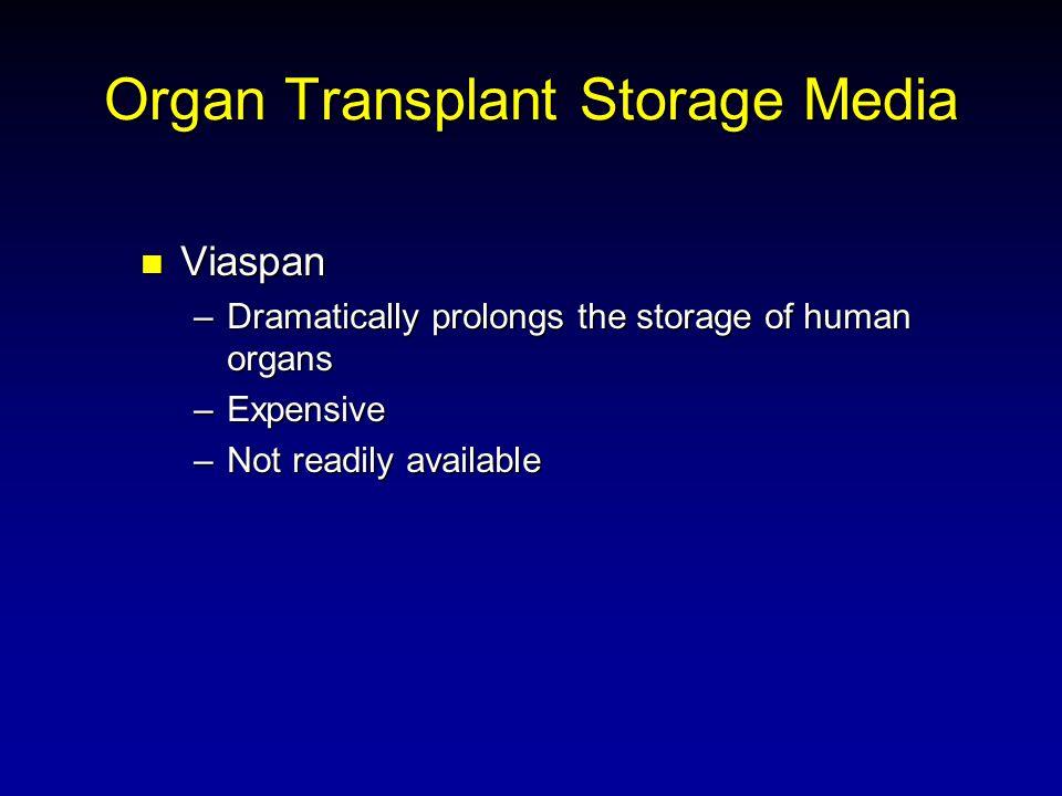 Organ Transplant Storage Media