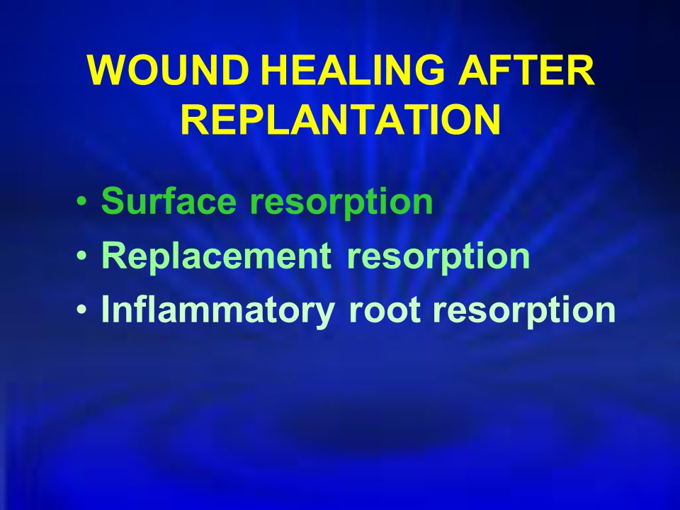 WOUND HEALING AFTER REPLANTATION