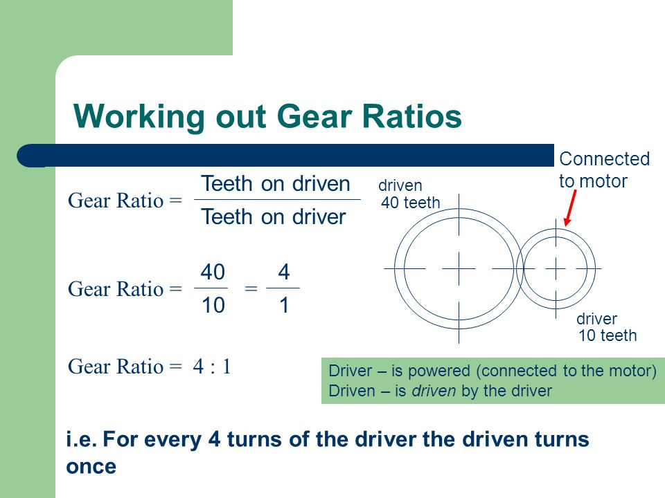 Working out Gear Ratios