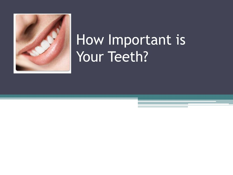 How Important is Your Teeth