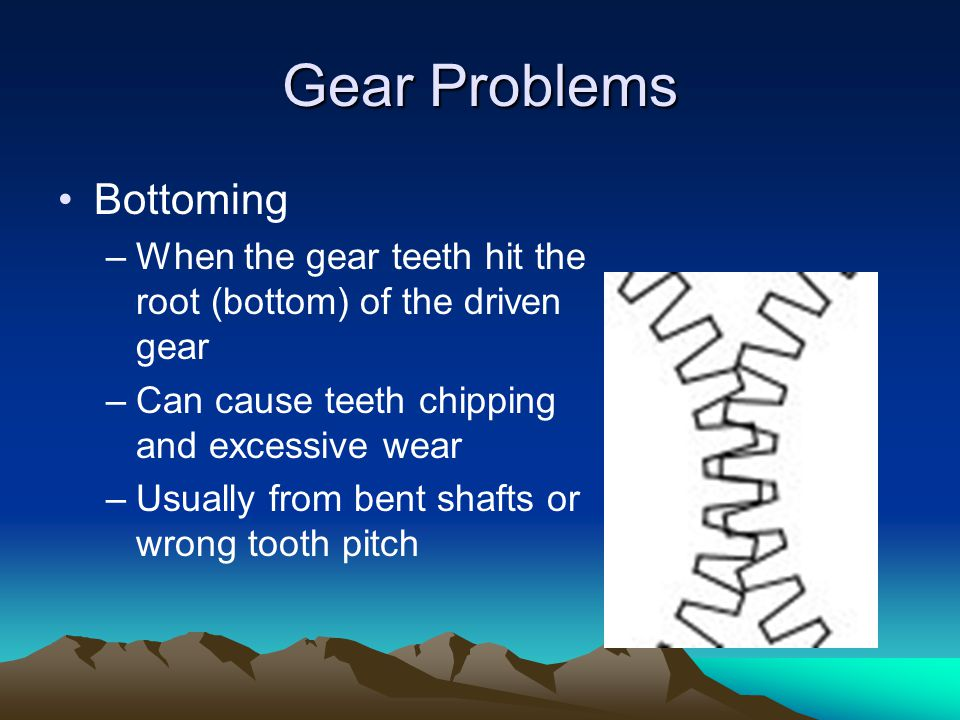 Gear Problems Bottoming