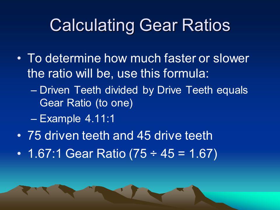 Calculating Gear Ratios