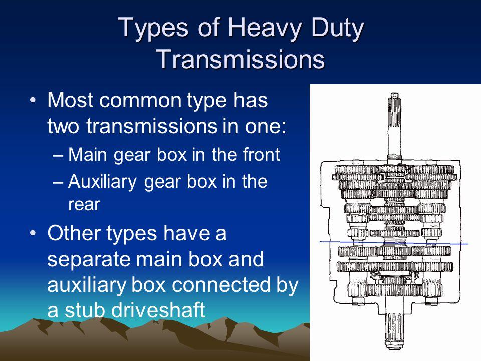 Types of Heavy Duty Transmissions
