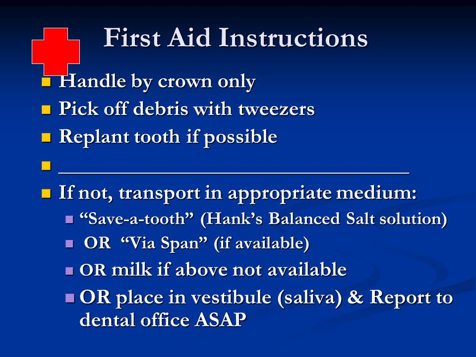 First Aid Instructions