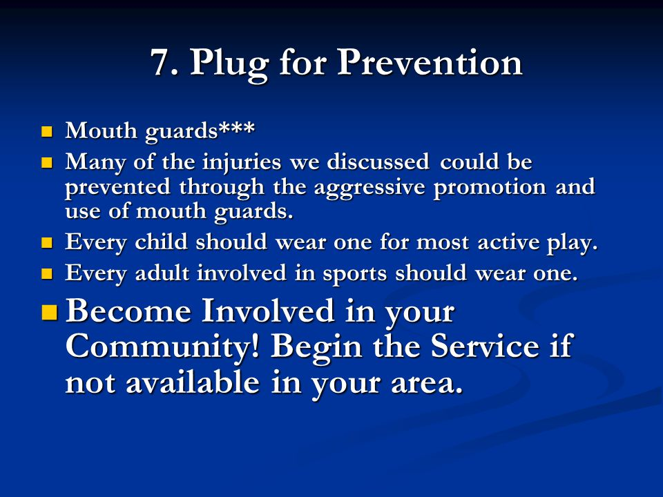 7. Plug for Prevention Mouth guards***