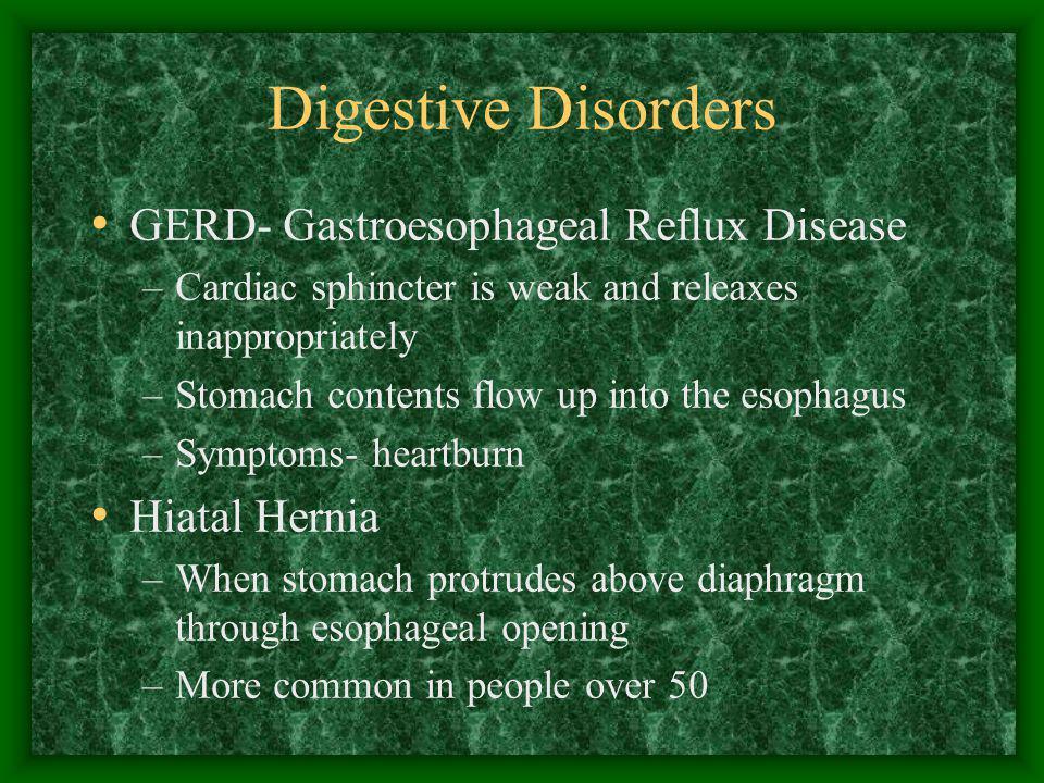 Digestive Disorders GERD- Gastroesophageal Reflux Disease