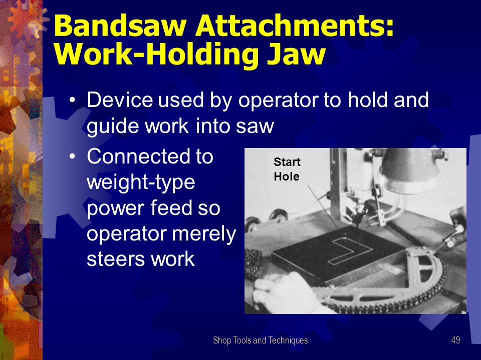 Bandsaw Attachments: Work-Holding Jaw
